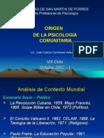 Clase 1 - Origen y Desarrollo de la Psicologia Comunitaria - 2011 - 2.ppt