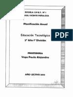 Educacion Tecnologica 2 Año 1div