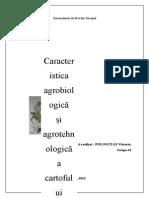 Arealul de Răspândire Și Importanţa Cartofului În Plan Mondial Și În Republica Moldova