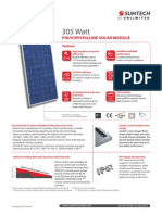 Datasheet solar panels