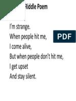 Riddle Poem