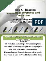 AQA Lang. - Reading Question 3