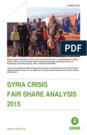 Syria Crisis Fair Share Analysis 2015