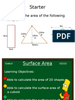Functional & Operational Maths Surface Area