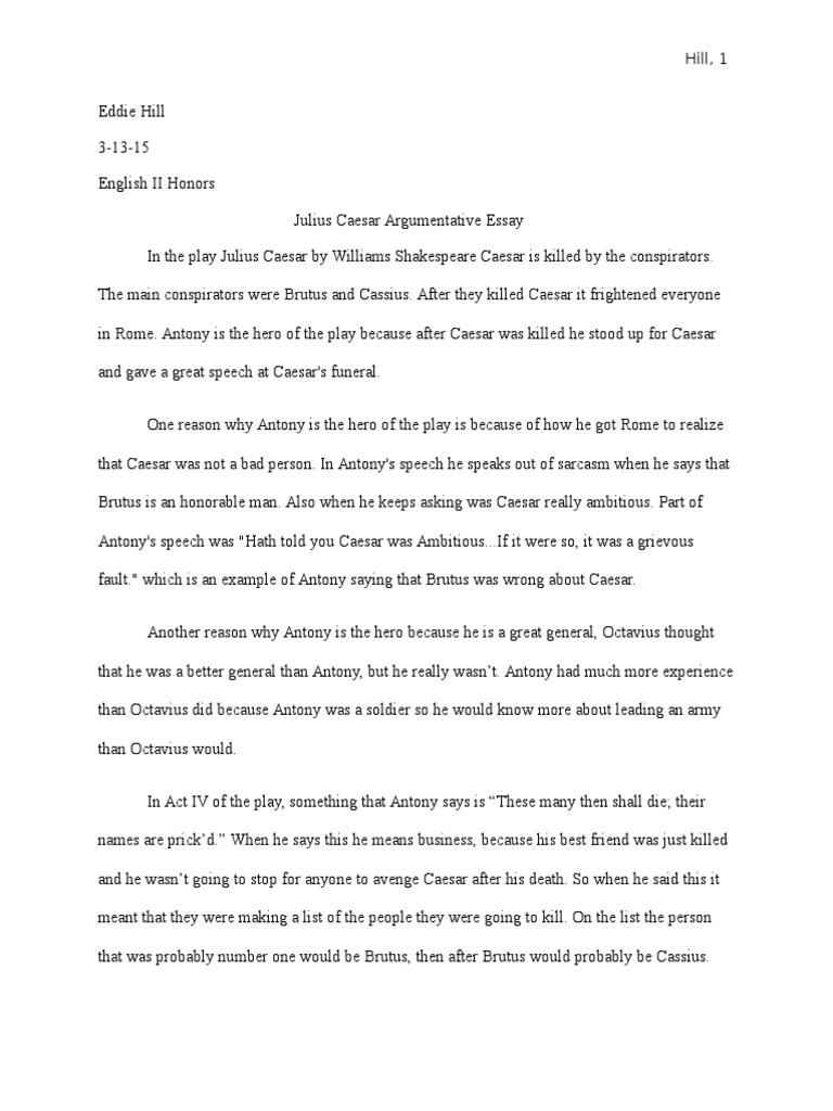 Essay On Julius Caesar