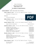 Senate Schedule 01-29-10