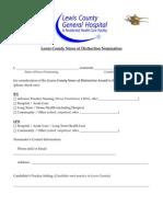 Nurses of Distinction Nomination Form