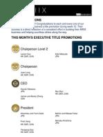 Weekly Title Promotion Week 12