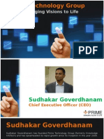 Sudhakar Goverdhanam (CEO) - Prime Technology Group