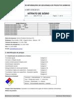 FISPQ Nitrato de Sódio