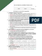 Evaluación de La NT 2015