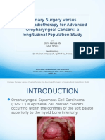 Primary Surgery vs Chemoradiotherapy for advanced oropharyngeal cancer