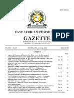 EAC Gazette 7 October 2014