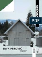 [El Croquis] 160 Bevk Perovic 2004-2012
