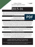 2015 COM Ambassador Application Packet