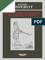 Carta Sobre Los Ciegos Para Uso de Los Que Ven - Diderot, Denis