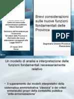 Brevi Considerazioni Sulle Nuove Funzioni Fondamentali Delle Province