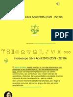 Horoscopo Libra Para Abril 2015