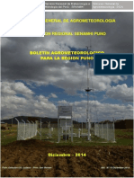 Boletin Agrometeorológico Diciembre 2014 de la Region Puno