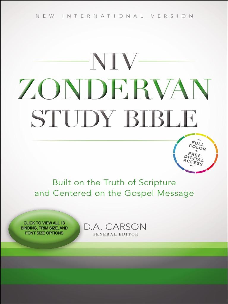 6acde0c6386 NIV Zondervan Study Bible Sampler