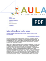 Interculturalidad Escuela Media España