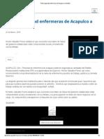 22-03-15 Piden seguridad enfermeras de Acapulco a Astudillo