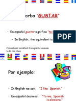 "04/13/15 Verb ""gustar"" to like and IOP"