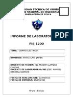 LAB. FISICA III. Introduccion a Los Campo Electrico