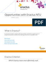Opportunities With Enactus NTU March 2015