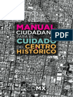 Manual Ciudadano para el Cuidado del Centro Histórico de la Ciudad de México