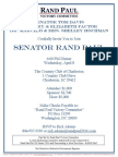 Dinner for RAND PAC, Rand Paul, Rand Paul Victory Committee
