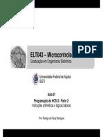 ELT043 - Aula 07 - Programação Do HCS12 - Parte 2