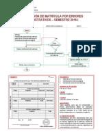 Correccion de Matricula 2015-i
