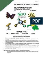 2013 Grade 5 Rev Paper Ns
