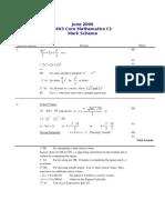 Math May 2006 Mark Scheme C1