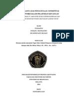 MAKALAH PELAPORAN KORPORAT - Studi Kasus Atas Penggunaan Conceptual Framework Dalam Pelaporan Keuangan