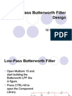 Filter Low Pass Butterworth Design Multisim