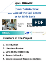 Master thesis report customer satisfaction
