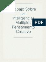 Trabajo Sobre Las Inteligencias Multiples Pensamiento Creativo