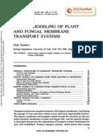 Modelo Cinético Del Sistema de Transporte de La Membrana de Plantas y Hongos