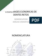 Engrenagens Cilíndricas de Dentes Retos