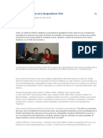 Analizan Los Orígenes de La Desigualdad en Chile