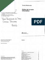 Maldonado, Tomás (1998) Crítica de la razón informática. Cap 1.