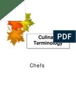 Chefs Terminology