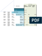 Example of progress sheet