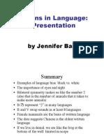 Patterns in Language 1