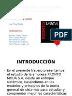 Teoría General de Sistemas Pronto Moda s.a. 1