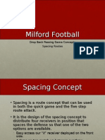 Milford Dropback Passing Game
