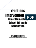 fractions intervention unit lessons