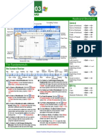 Excel Quick Reference 2003